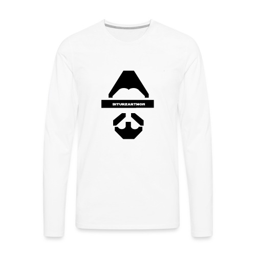 Biturzartmon Logo schwarz glatt - Männer Premium Langarmshirt