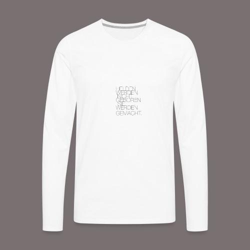 Helden - Männer Premium Langarmshirt