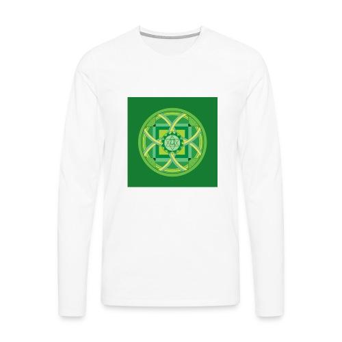 Anahata - Heart Chakra - Miesten premium pitkähihainen t-paita