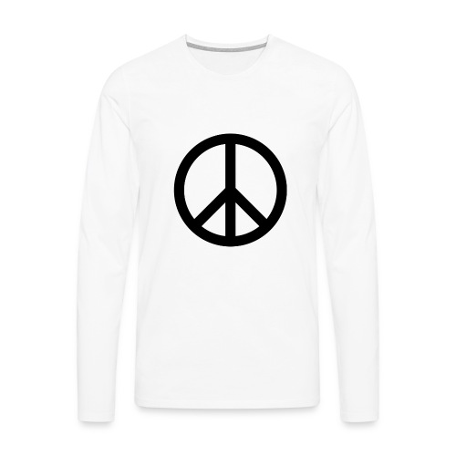 Peace Teken - Mannen Premium shirt met lange mouwen
