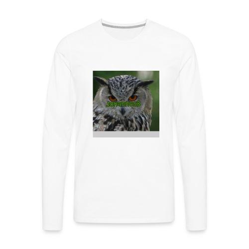 JohannesB lue - Premium langermet T-skjorte for menn