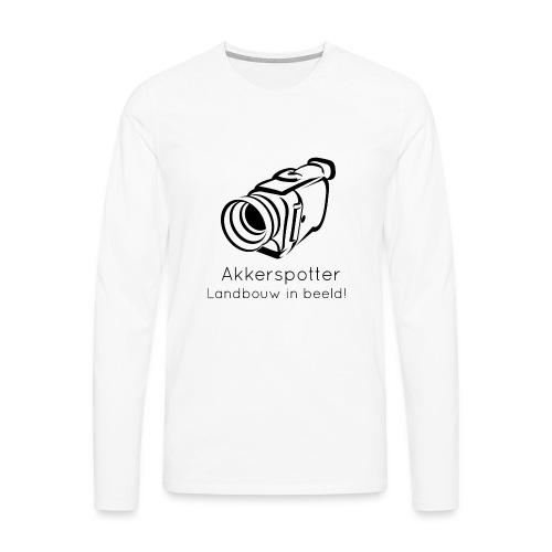 Logo akkerspotter - Mannen Premium shirt met lange mouwen