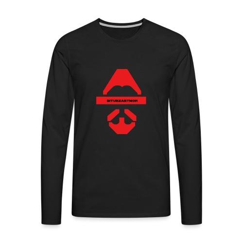 Biturzartmon Logo rot glatt - Männer Premium Langarmshirt