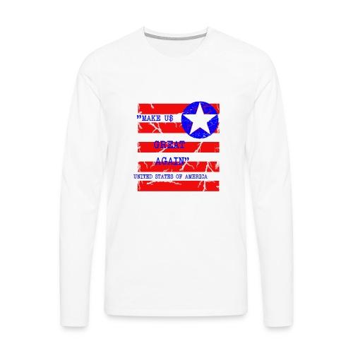 MAKE USG REAT AGAIN - Långärmad premium-T-shirt herr