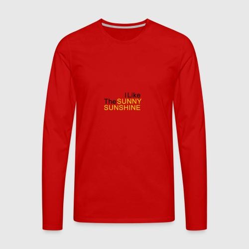 Sunny Sunshine... - Mannen Premium shirt met lange mouwen