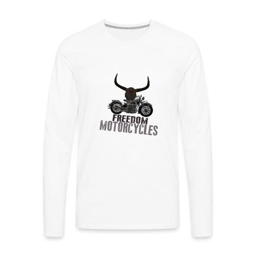 FREEDOM MOTORCYCLES - Camiseta de manga larga premium hombre