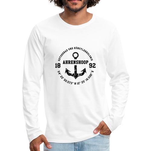 Ostseebad und Künstlerkolonie Ahrenshoop schwarz - Männer Premium Langarmshirt