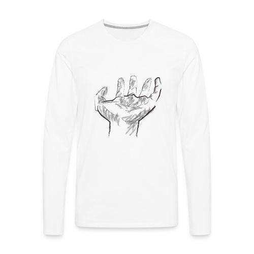 Mano - Camiseta de manga larga premium hombre