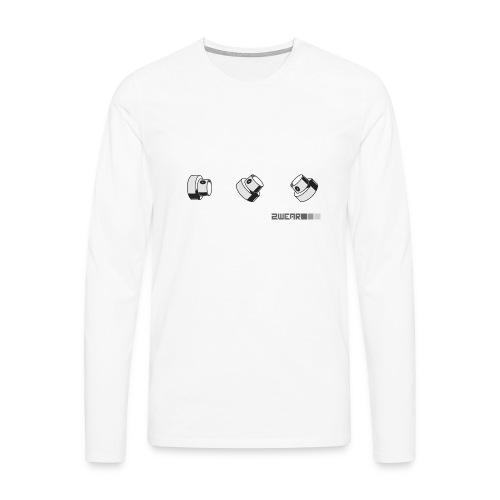 Fat Caps street flow - Herre premium T-shirt med lange ærmer