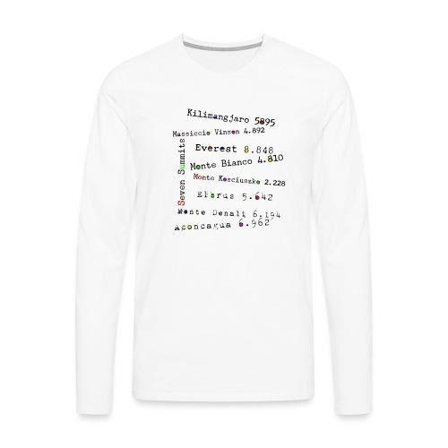 The Seven Summits - Maglietta Premium a manica lunga da uomo