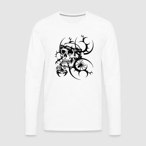 Tattoo Totenkopf - Männer Premium Langarmshirt