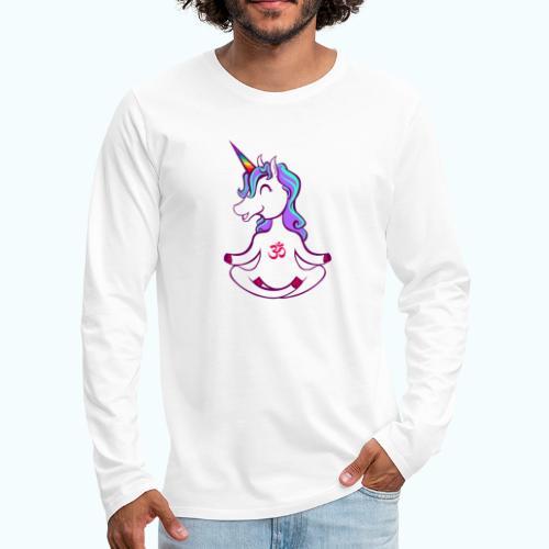 Unicorn meditation - Men's Premium Longsleeve Shirt