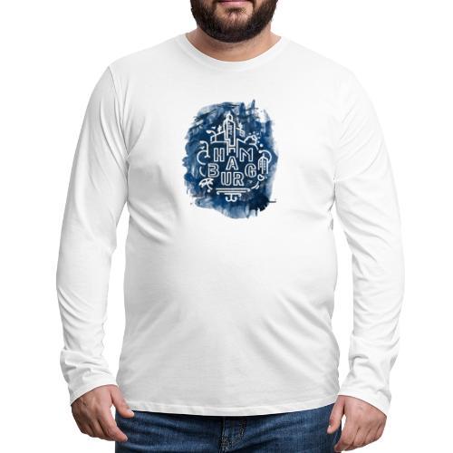 Hamburg_Ink.png - Männer Premium Langarmshirt