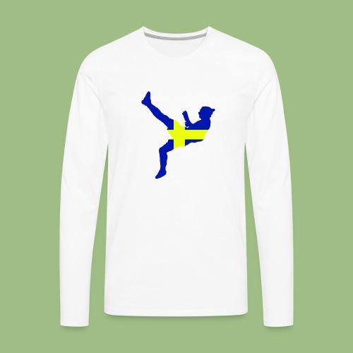 Ibra Sweden flag - Långärmad premium-T-shirt herr