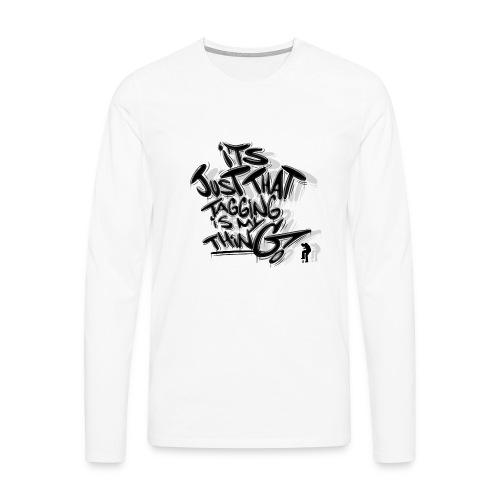Just That Tagging - Herre premium T-shirt med lange ærmer