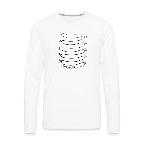 Wiener Illusion (schwarz auf weiß) - Männer Premium Langarmshirt