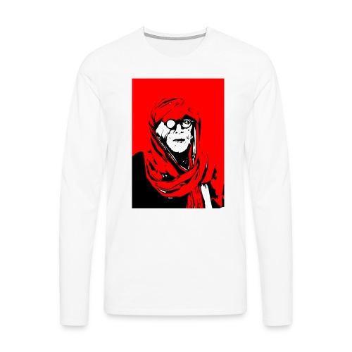 L'homme rouge représente la terre rouge d'Afrique. - T-shirt manches longues Premium Homme