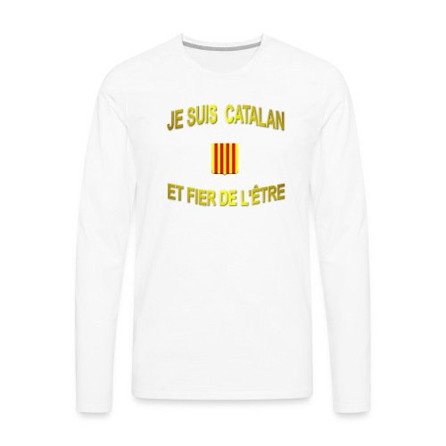 Dessous de verre à l'emblème du PAYS CATALAN - T-shirt manches longues Premium Homme