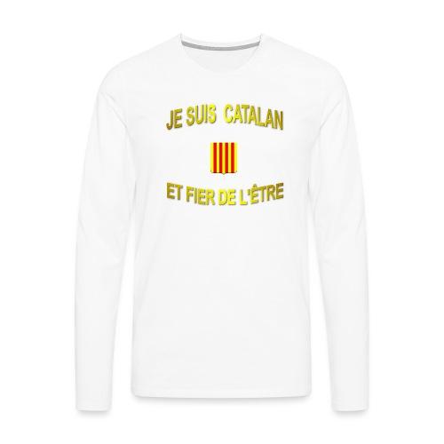 Tee-Shirt supporter du pays CATALAN - T-shirt manches longues Premium Homme