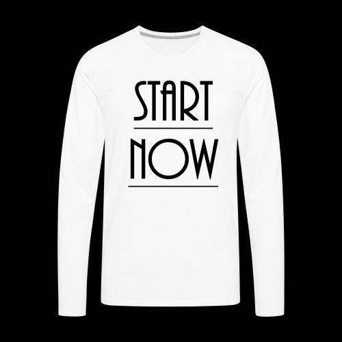 start now - Männer Premium Langarmshirt