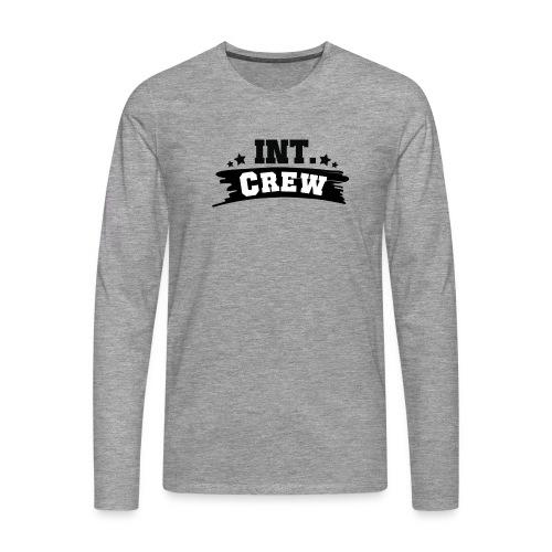 International Crew T-Shirt Design by Lattapon - Herre premium T-shirt med lange ærmer
