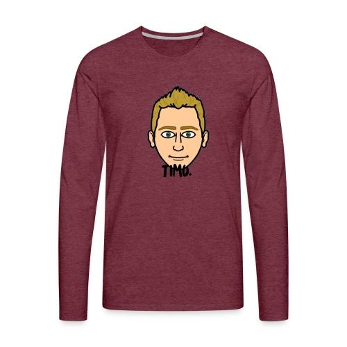 LOGO VAN TIMO. - Mannen Premium shirt met lange mouwen
