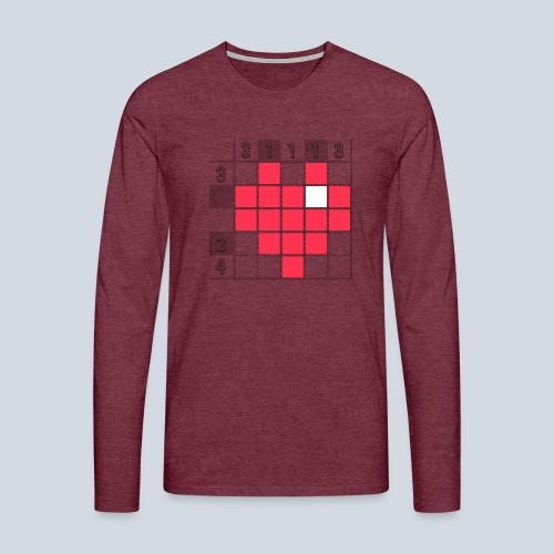 Heart Tshirt Women - T-shirt manches longues Premium Homme