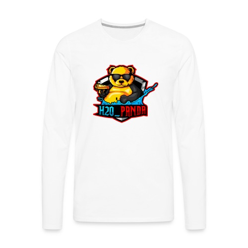Pandas Loga - Långärmad premium-T-shirt herr