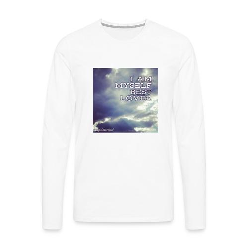 I Am Myself best Lover - Miesten premium pitkähihainen t-paita