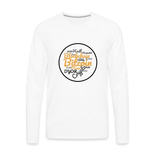 Bitcoin Tag Cloud - Men's Premium Longsleeve Shirt