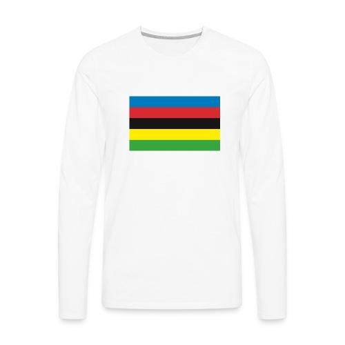 Cycling_World_Champion_Rainbow_Stripes-png - Mannen Premium shirt met lange mouwen