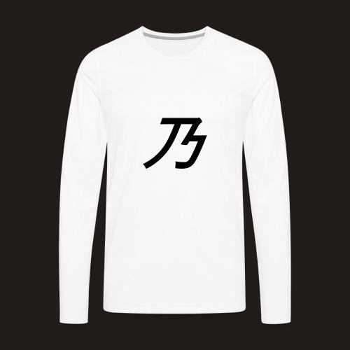 B Logo - Herre premium T-shirt med lange ærmer