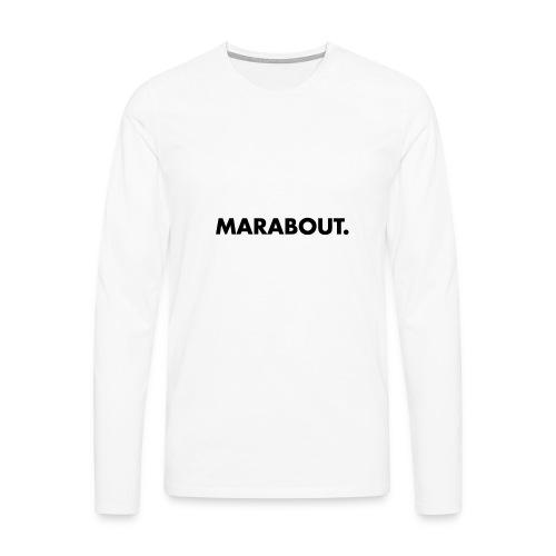 MARABOUT® - Wij helpen, Gambia ontwikkelt - Mannen Premium shirt met lange mouwen