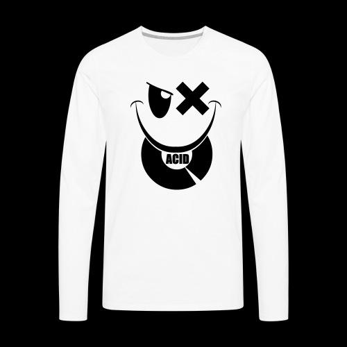 smiley acid techno vinyl - Men's Premium Longsleeve Shirt