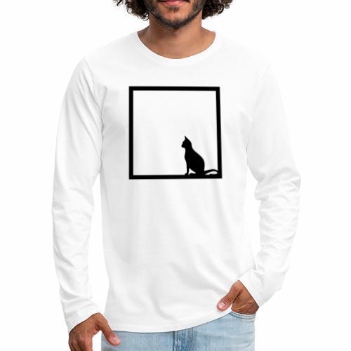 Chat noir / Black cat - Men's Premium Longsleeve Shirt