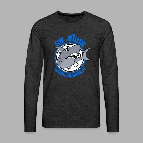 SB JAWS - Miesten premium pitkähihainen t-paita