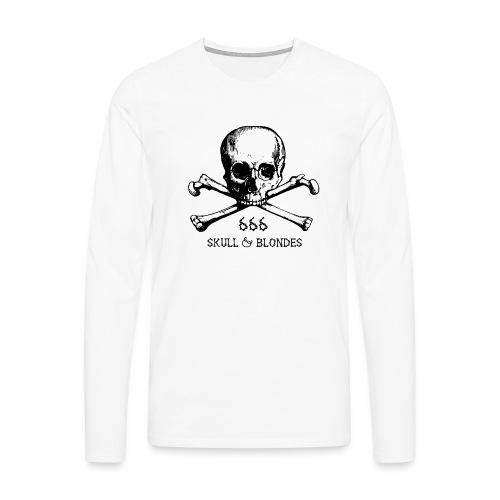 skull & blondes (black) - Männer Premium Langarmshirt