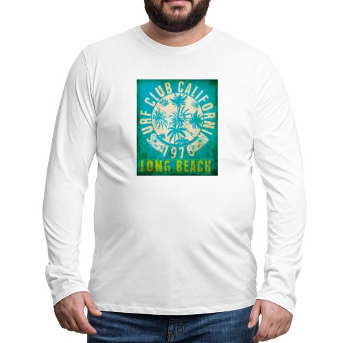 Long Beach Surf Club California 1976 Gift Idea - Men's Premium Longsleeve Shirt