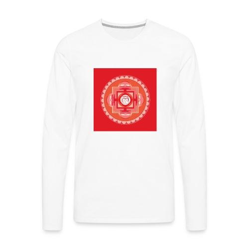Muladhara - Root Chakra - Miesten premium pitkähihainen t-paita
