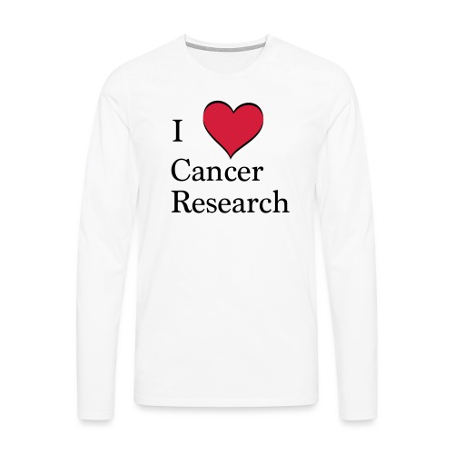 I love cancer research - Männer Premium Langarmshirt