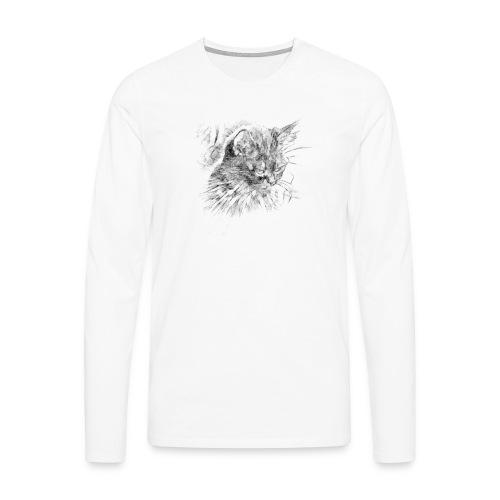 chat triste - T-shirt manches longues Premium Homme