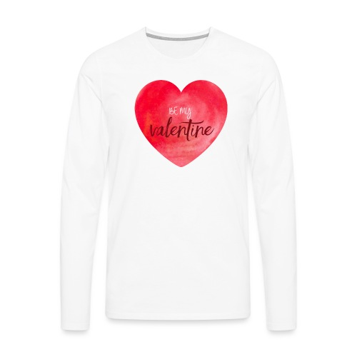 Cœur st.valentin - T-shirt manches longues Premium Homme