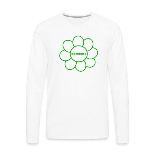 #petaloso - Maglietta Premium a manica lunga da uomo