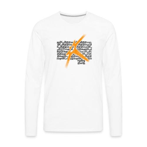 Palazzo Textblock auf weiss/on white - Männer Premium Langarmshirt