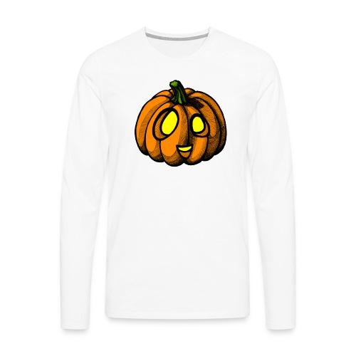 Pumpkin Halloween scribblesirii - Miesten premium pitkähihainen t-paita