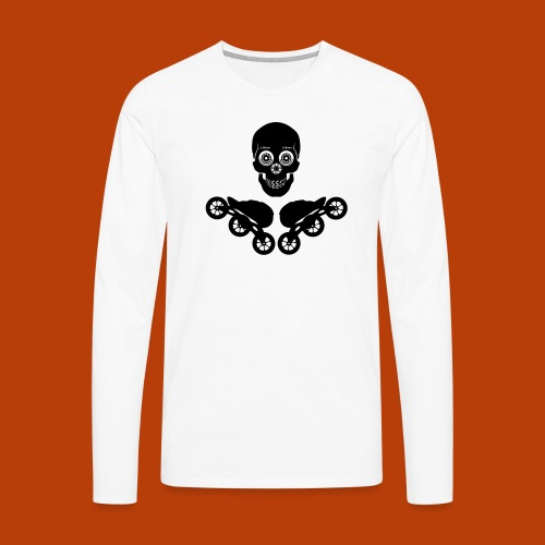 Skull + Skates 125mm - Männer Premium Langarmshirt