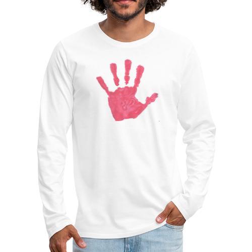 Hand - Långärmad premium-T-shirt herr