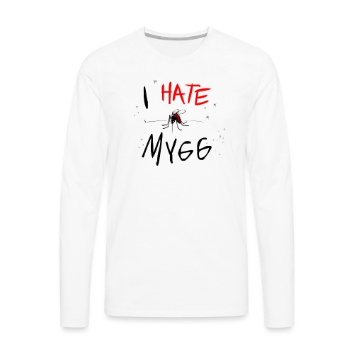 I hate mygg - Långärmad premium-T-shirt herr