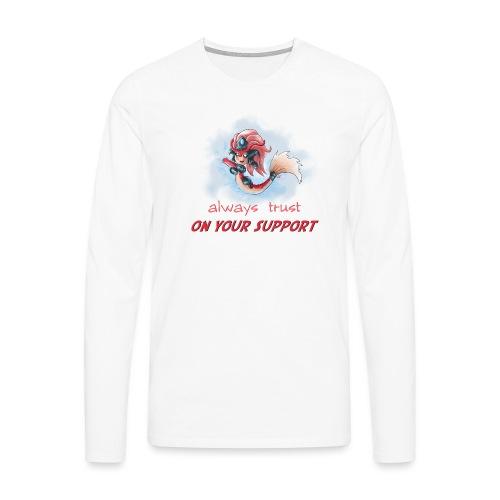 Chibi Nami Koi con scritta DONNA - Maglietta Premium a manica lunga da uomo