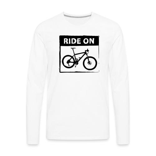 Ride On MTB 1 Color - Männer Premium Langarmshirt